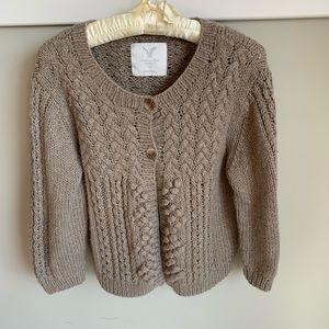 AEO chunky wool blend bobble knit cardigan XL